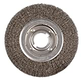 Weiler 6170 Face Crimped Wire Wheel, 10'' Medium, 0.20'' Steel Fill, 2'' Arbor Hole