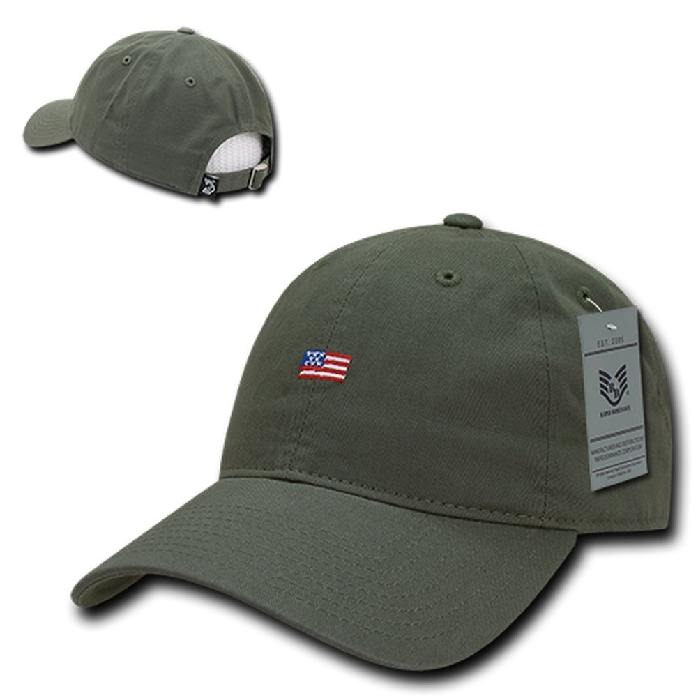 614330f5e99ace Amazon.com: Small American Flag Embroidered Vintage Washed Dad Hat Buckle  Strap Cap - Black: Clothing