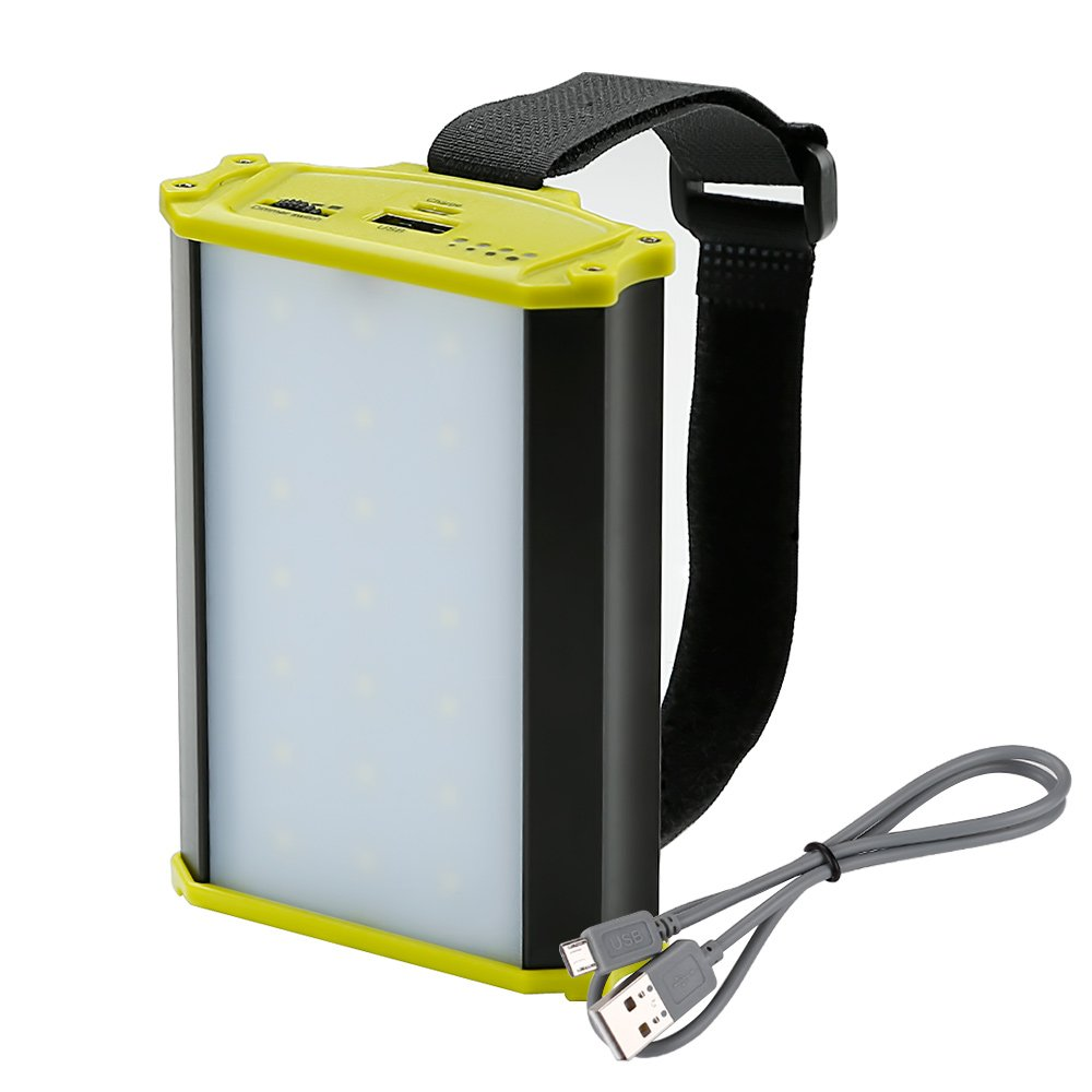 LE Portable LED Camping Light 4400mAh Power Bank Dimmable Lantern Work Lamp with Magnet 330lm for Outdoor Activities Sports Tents Hiking Camping Fishing Emergency