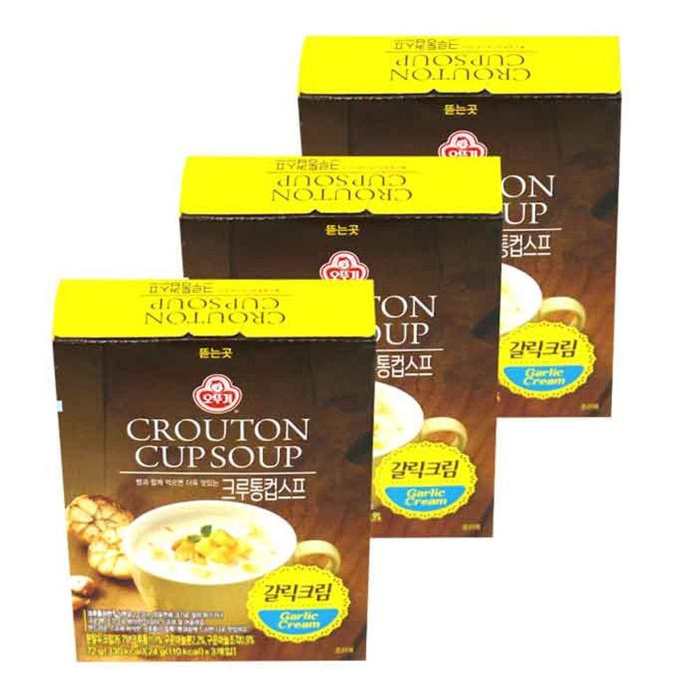 Ottogi Crouton Cup Soup Garlic Cream 72g x 3