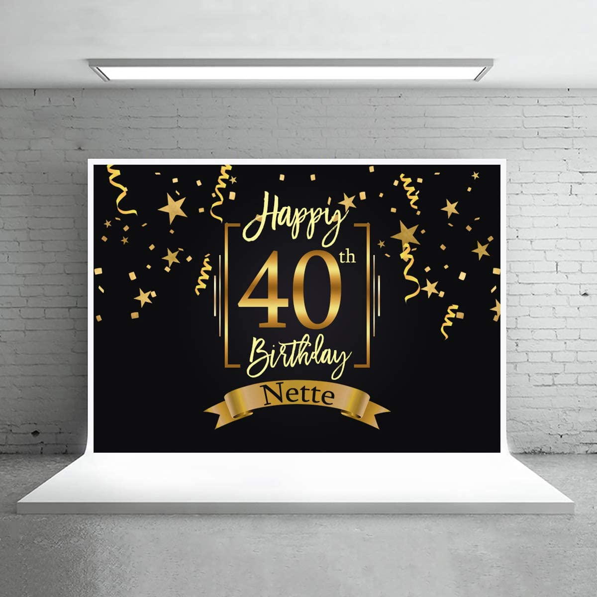 Levoo Anniversary Ceremony Background Banner Photography Studio Birthday Family Party Holiday Celebration Romantic Wedding Photography Backdrop Home Decoration Customizable Words 5x3ft,sxy1294