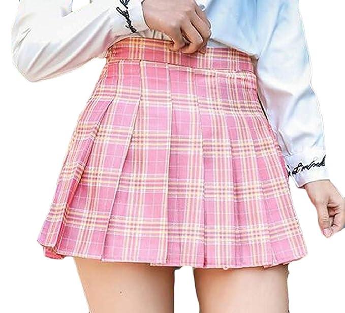 dahuo - Falda de Colegiala para Mujer con Pliegues, Talla XL 1 36 ...
