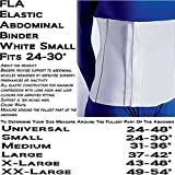 Cheap FLA 34-510SMSTD Elastic Sized Abdominal Binder 10 H, White – Small 24-30 by FLA