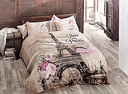 BEST SELLER Pink Paris Duvet Cover Set (4 Pieces) - Queen Size - 100% Turkish Cotton / Made in Turkey - Premium Item, Queen size