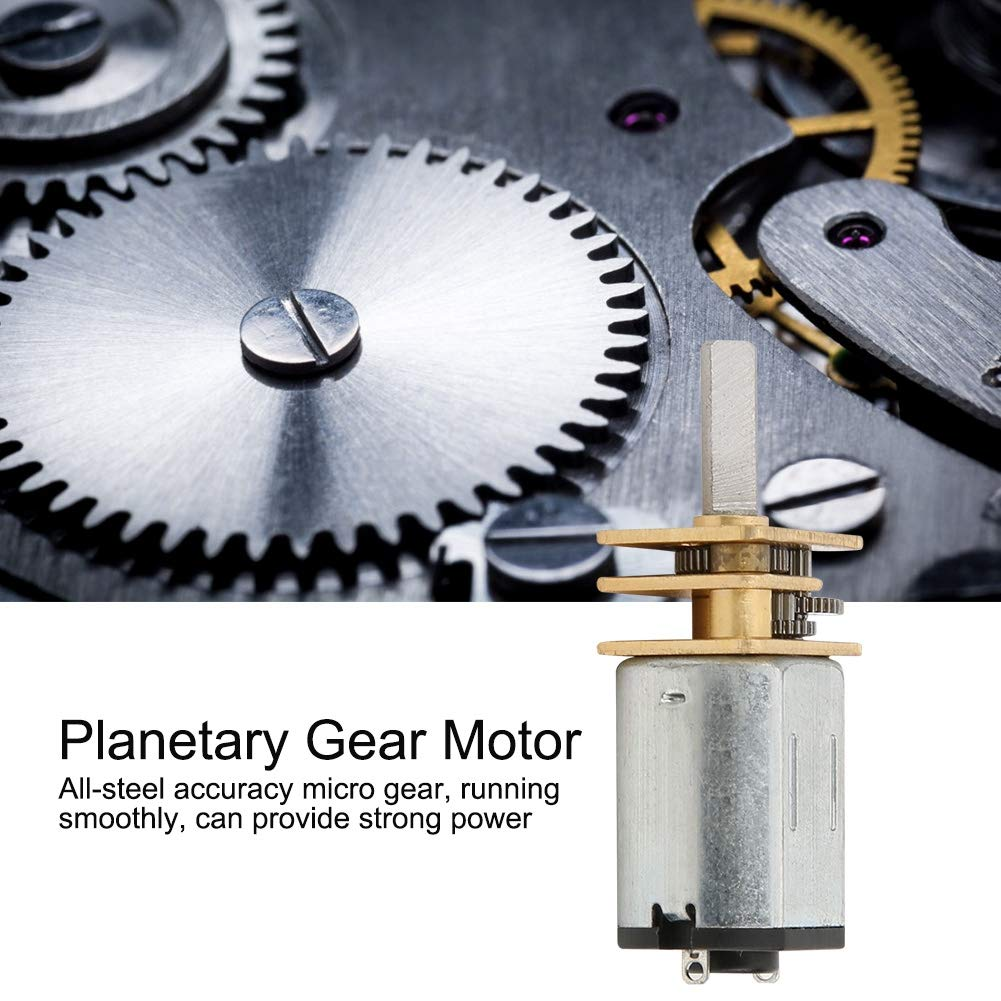 300RPM DC6V Planetary Gear Motor,6mm Gearbox Motor,All-Metal Structure Low Noise High Torsion Gearbox Motor