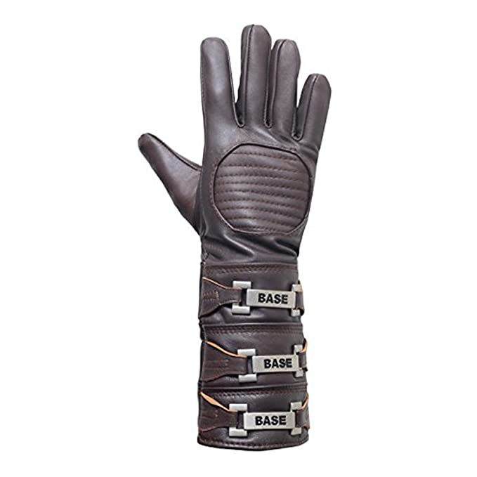 Anakin Skywalker Gauntlet Costume Real Leather Brown Right Glove