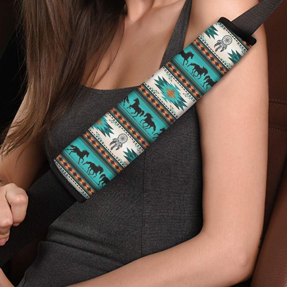 Compatible with All Cars Present MODEGA Custom Auto Seat Belt Cover Aztec Seatbelt Shoulder Pad Comfortable Driving
