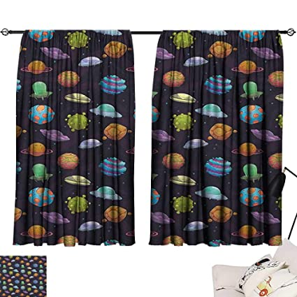 Amazon.com: Michaeal Space reducing Noise Darkening Curtains ...