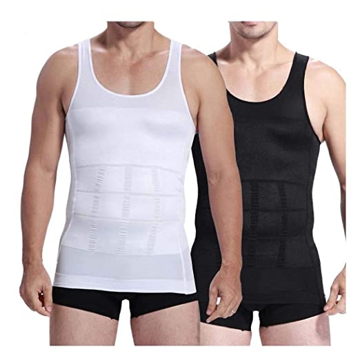 1fae44327fb Amazon.com  Mens Slimming Body Shaper Undershirt Vest Shirt Abs Abdomen  Shaperware  Clothing