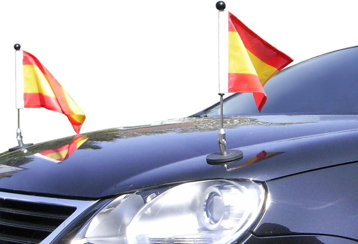 Par Soporte de Bandera para Coches con sujeción magnética Diplomat-1.30 España: Amazon.es: Jardín