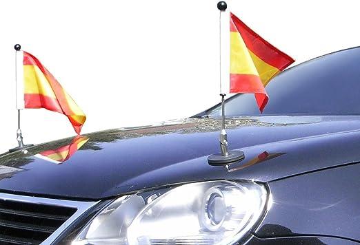 Par Soporte de Bandera para Coches con sujeción magnética Diplomat-1 España: Amazon.es: Jardín