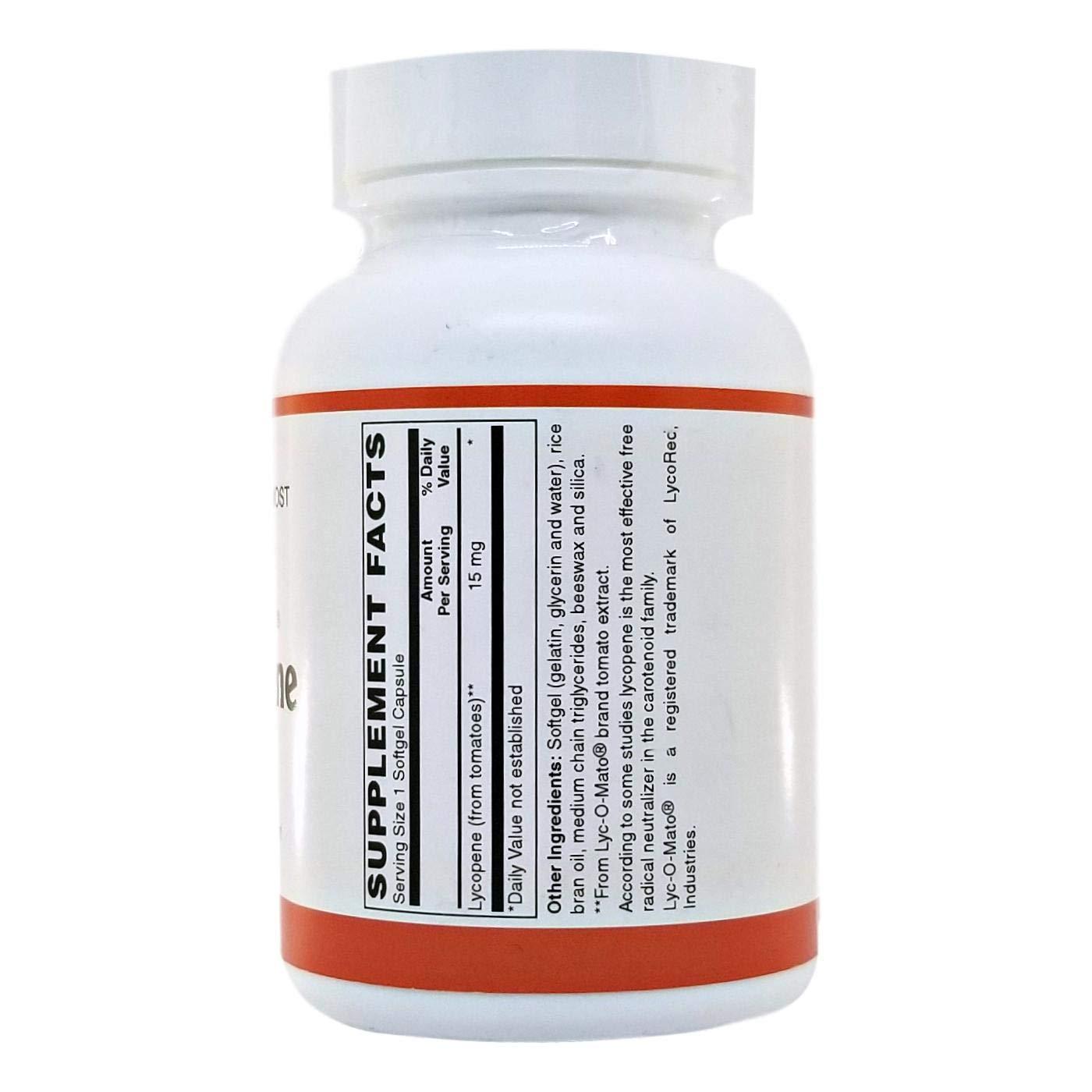 Lycopene, 15mg, 30 Softgels by Holistic Health International, LLC