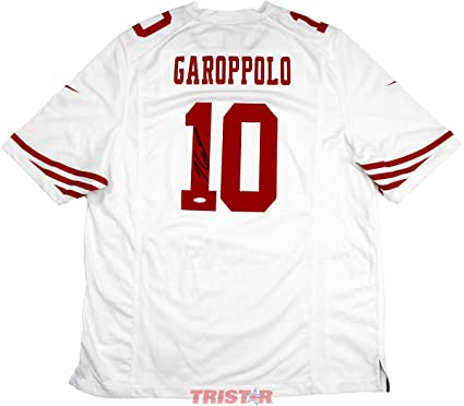 943a419eb Jimmy Garoppolo Signed Autographed San Francisco 49ers Nike  Game  White  Replica Jersey TRISTAR COA