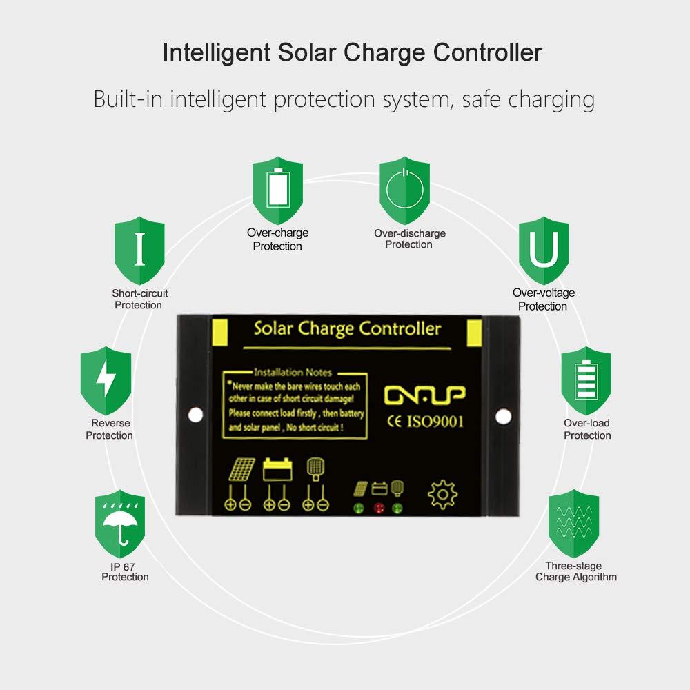 SUNER POWER Waterproof Solar Charge Controller - Intelligent12V/24V Solar Panel Battery Regulator by SUNER POWER (Image #4)