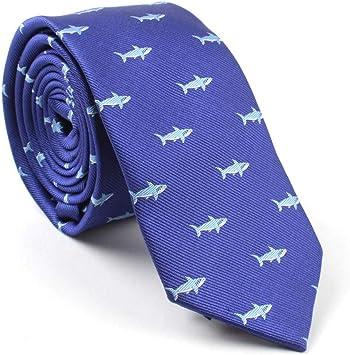 COLILI Corbatas Delgadas Hombres Jacquard Corbatas Tejidas Tiburón ...