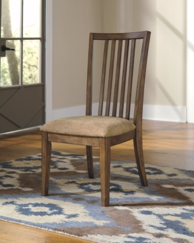 Pleasant Ashley Birnalla Upholstered Dining Chair In Light Brown Download Free Architecture Designs Terstmadebymaigaardcom