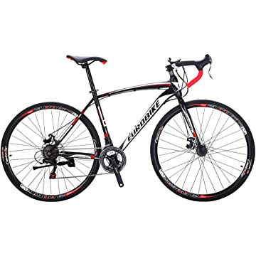 cheap EUROBIKE Road Bike TSM550 Bike 21 Speed Dual Disc Brake 700C Wheels Road Bicycle 2020