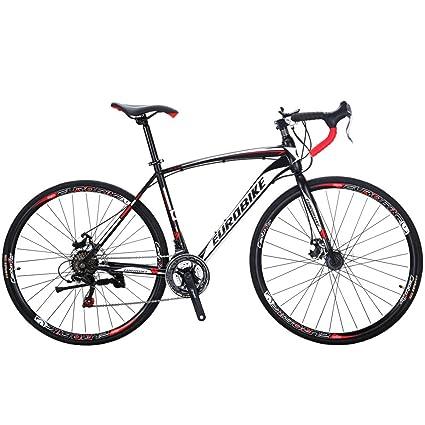 28ad40f9054 Eurobike Road Bike TSM550 49 cm Frame 21 Speed Dual Disc Brake 700C Wheels  Bicycle Black