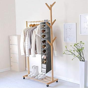 Armario Colgante Ideal Hecho de Tela con 10 estantes JiatuA Organizador de Zapatos para Armario Gris