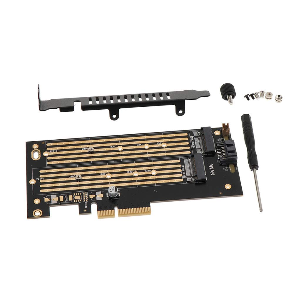 M Key B Key Dual Interface Card NVME+SATA M.2 NGFF to PCIe 4X Adapter Card