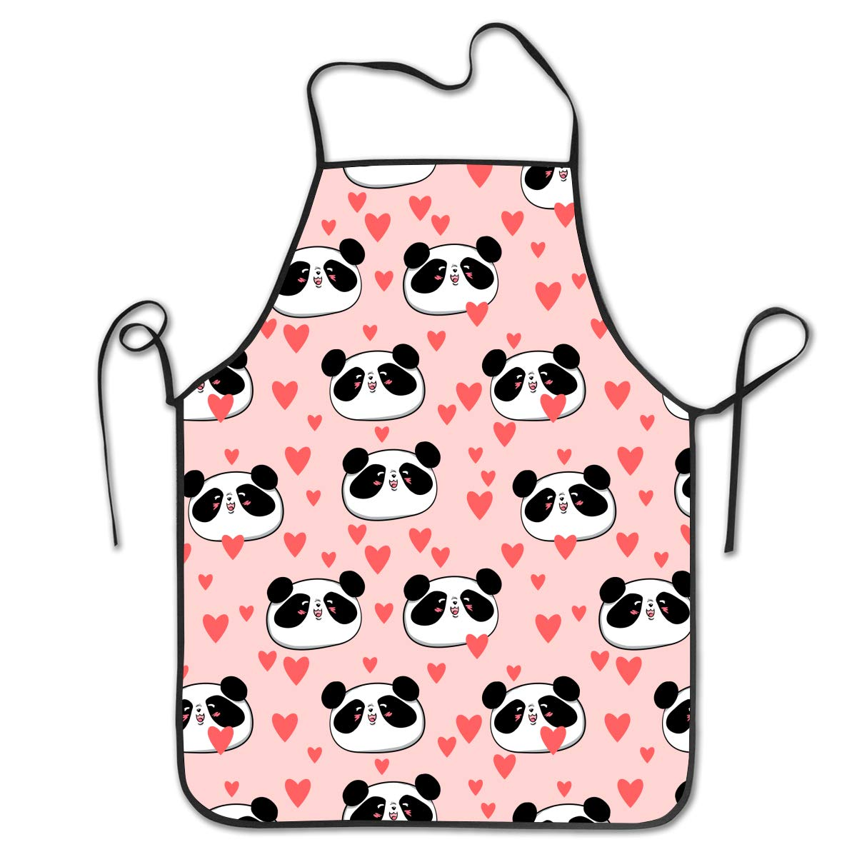 OKAYDECOR Novelty Waterproof Retro Kitchen BBQ Craft Bib Apron Dress for Women Men Pink Animal Panda Love Heart Patterns