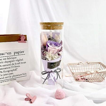 Lxdzgm Rosa Bella y Bestia Cristal Original,Flor eterna ...