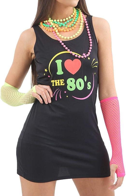 Islander Fashions para Mujer Amo el Vestido de los a�os 80 ...