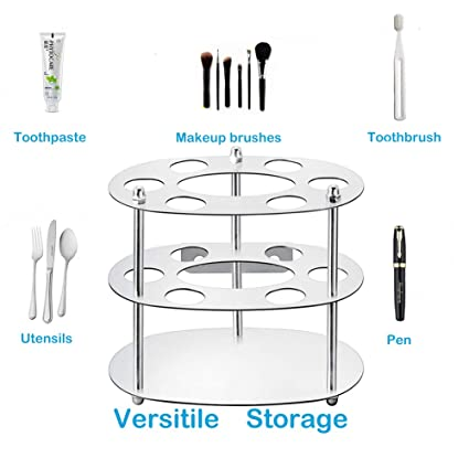 HAOYUNTE Stainless Steel Toothbrush Holder Wall Mounted Toothpaste Stand, Corrode Proof Toothbrush Rack for Bathroom Storage Organizer, 4 Toothbrush,