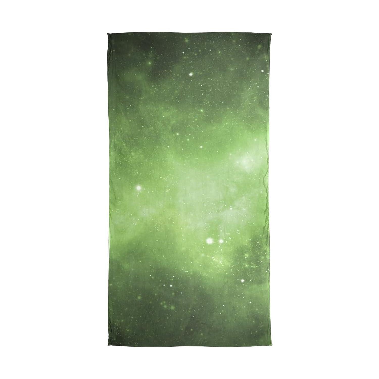 MRMIAN Galaxy Space Green Long Lightweight Silk Chiffon Scarf Wrap Shawl Stole