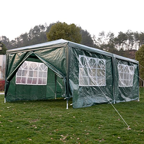 Eight24hours Outdoor 10'x20'Canopy Party Wedding Tent Heavy duty Gazebo Pavilion Cater Events - Green (Evanston Sand)