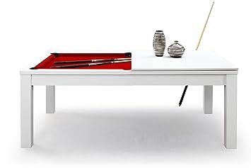 eroverfrance table manger billard convertible table a manger blanc tapis rouge - Billard Table A Manger