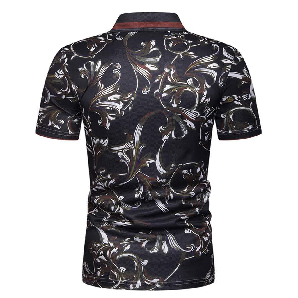 Anewoneson 2019//Mens Short-Sleeved T-Shirt top Fashion Personality Slim Stitching Big Sales