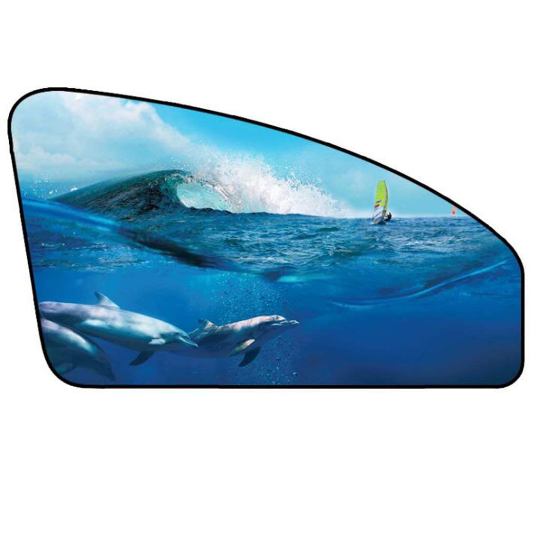1 Juego universal para coche Parasol del parabrisas del visera cortina cubierta de dibujos animados magn/ético ventana lateral Parasol Prueba cubierta UV Protect
