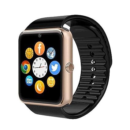YYH Smart Watch DZ09 Smart Watch Amazon Explosion Reloj Inteligente Reloj Inteligente (Color : Oro