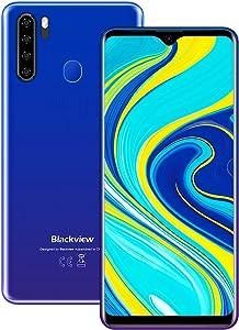 "Blackview A80 Pro Unlocked Smartphones, Andorid 10 GSM Cell Phones, 4GB+64GB ROM Dual sim Unlocked Phones, 6.5"" Display Fingerprint Reader face ID Smart Phone, 4680mAh Capacity Cricket tmobile Phones"