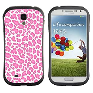 "Hypernova Slim Fit Dual Barniz Protector Caso Case Funda Para SAMSUNG Galaxy S4 IV / i9500 / i9515 / i9505G / SGH-i337 [Modelo blanco del rosa del animal de piel""]"