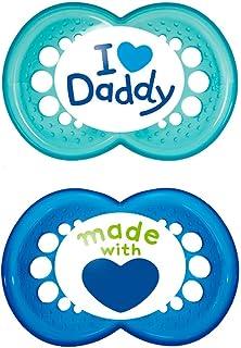 Monate MAM Schnuller I Love Mummy Blau I Love Daddy 6