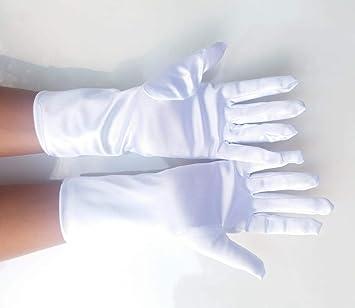 Blanco Talla /Única Guantes Cortos para Mujer Fever