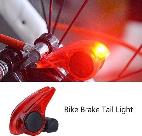 Luz de Freno de Bicicletas Resistente a Lluvia Luz de Advertencia ...