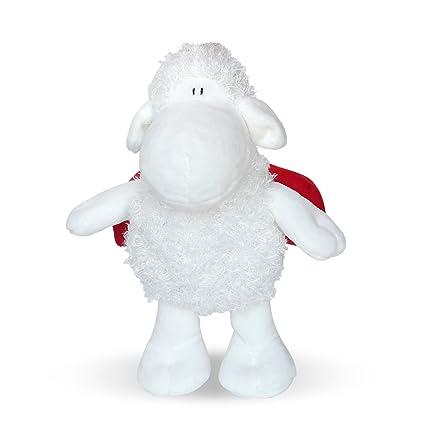 Sheepworld 45087 oveja de peluche Mariquita, aprox. 15 cm oveja de peluche con mariquita