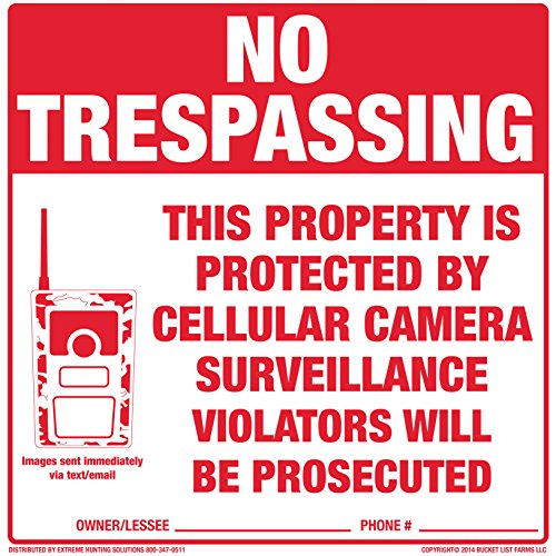 Extreme Hunting Solutions Tyvek No Trespassing Signs 10 Pack (Sign Tyvek)