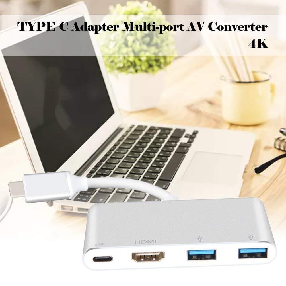 Typ C Adapter Multiport AV Converter wei/ß WEN USB C zu HDMI Adapter 4K