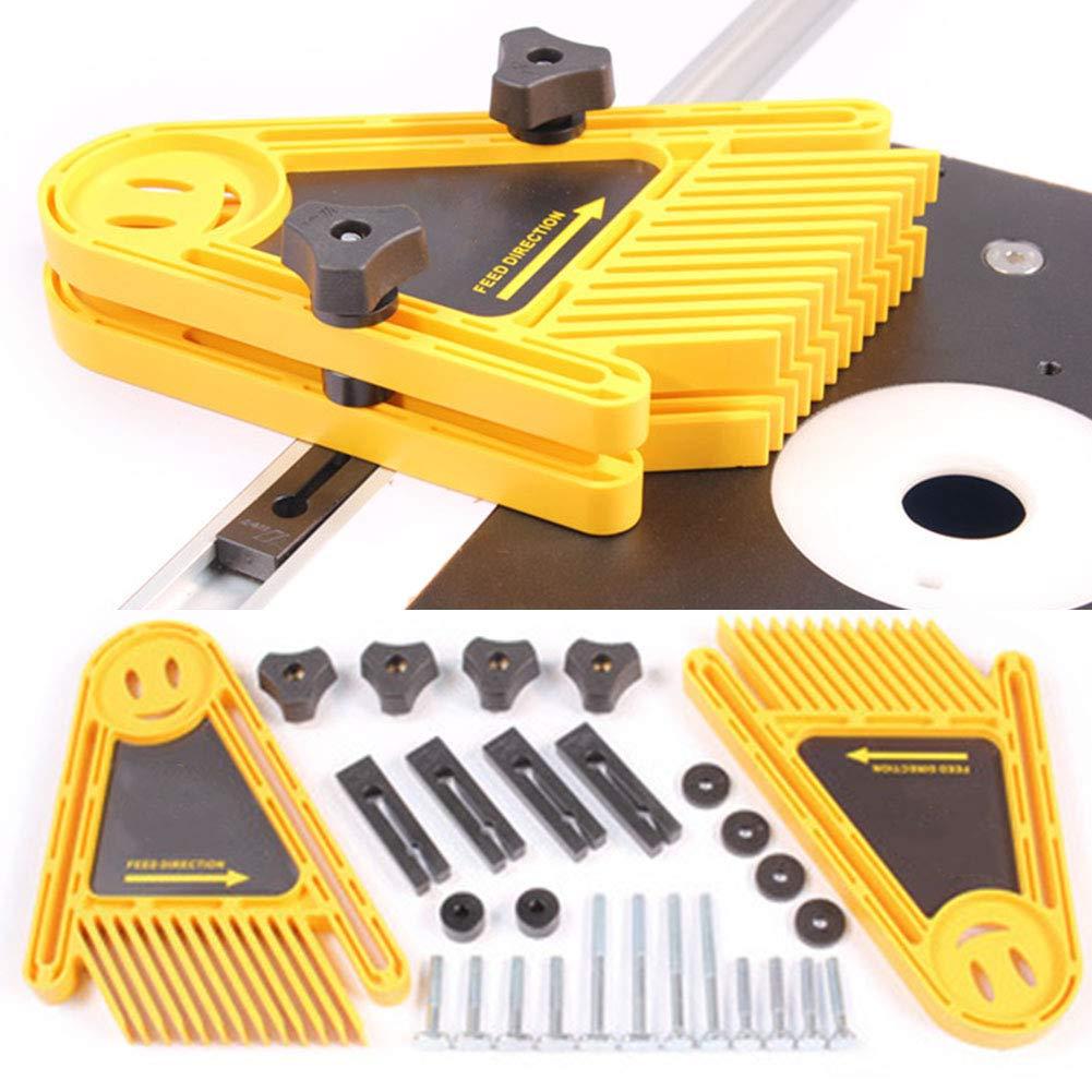 FADDR 1 Paar Slot Fireangels Loc Board,Tischkreiss/ägen Bands/ägen Router Gehrungslehre DIY elektrische Kreiss/äge Holzbearbeitungswerkzeug wie Gezeigt