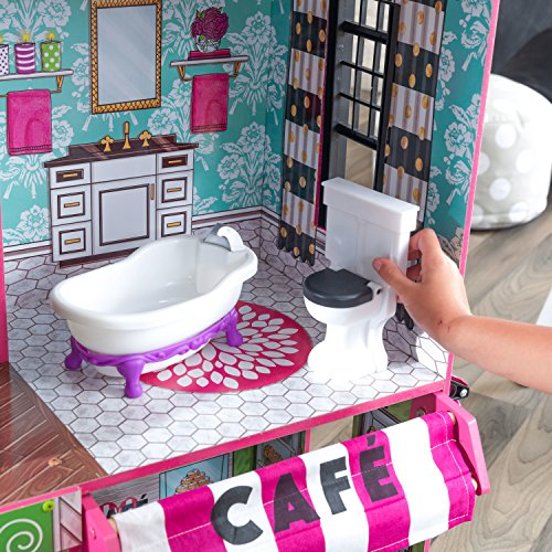61HegKEtccL - KidKraft So Chic Dollhouse with Furniture
