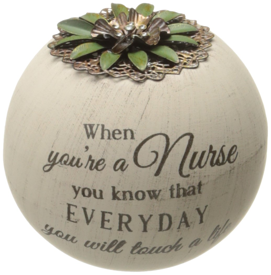Pavilion Gift Company 19003 Light Your Way Terra Cotta Candle Holder, Nurse, 4-Inch