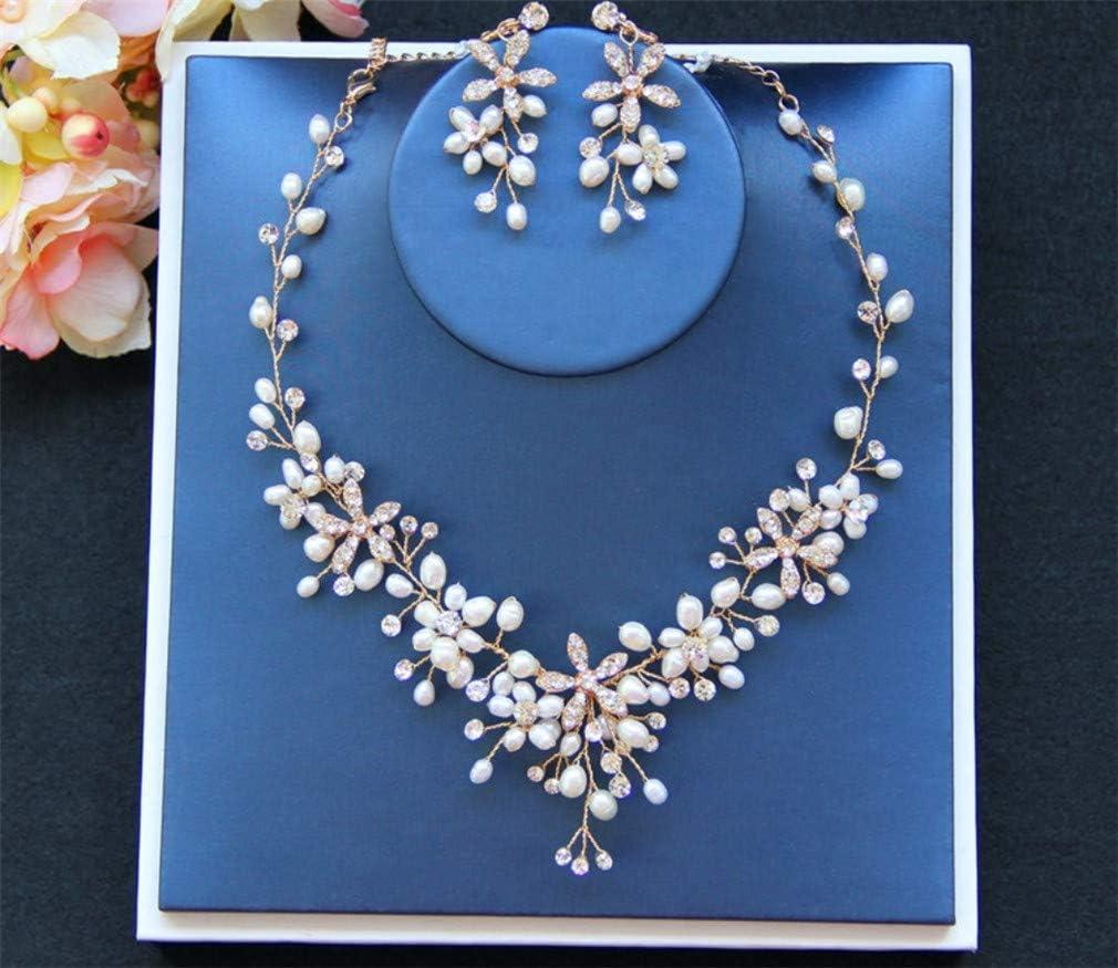 Amazon Com Lucky U Bridal Jewelry Set Crystal Diamond Wedding