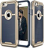 E LV iPhone 6S Case Cover Slim Armor Defender for iPhone 6S / iPhone 6 - [DARK BLUE/LIGHT GOLD]