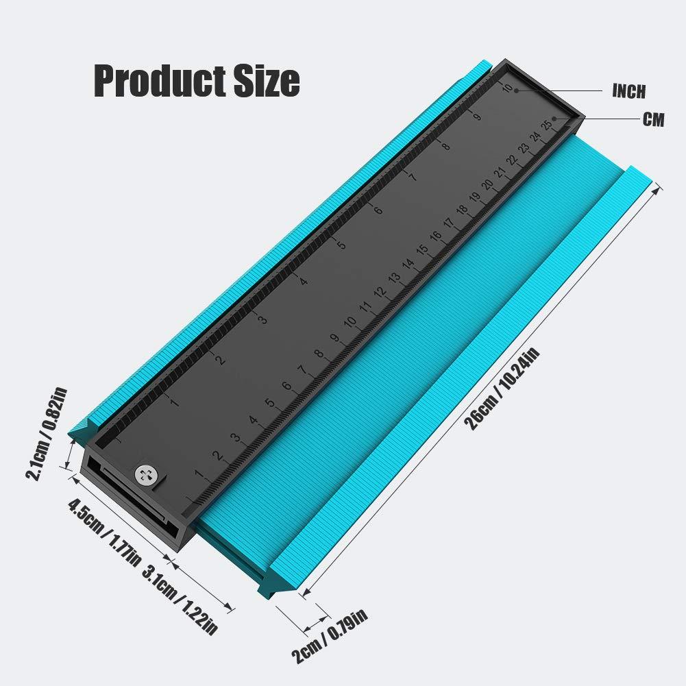 Konturenlehre 14CM//5.5,BLAVOR wolfcraft Markierungswerkzeug Holzarbeitung Profil Kopierer unregelm/ä/ßiges Konturmessger/ät Duplikator zum /Übertragen von Konturen /& Schnittverl/äufen