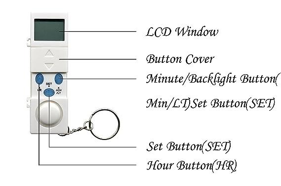 PuTwo Pastillero Caja digital de píldoras de 7 días con 28 compartimentos 4 Timer Alarm Medicación Pill Reminder Pill Organizer Pill Dispenser - Azul
