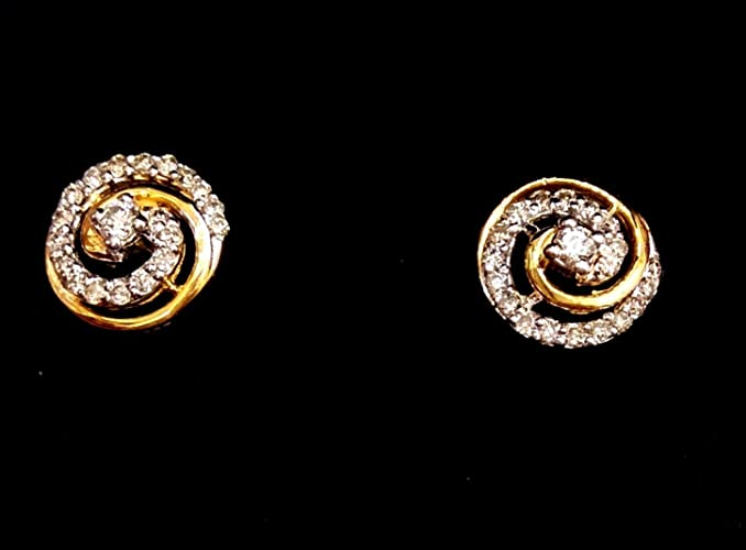 dec3fd8073aa5 Amazon.com: chanvanworld Women Stud Natural Diamond 9K, 14K Gold ...